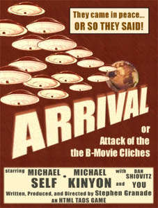 Cover art for Arrival, or Attack of the B-Movie Clichés