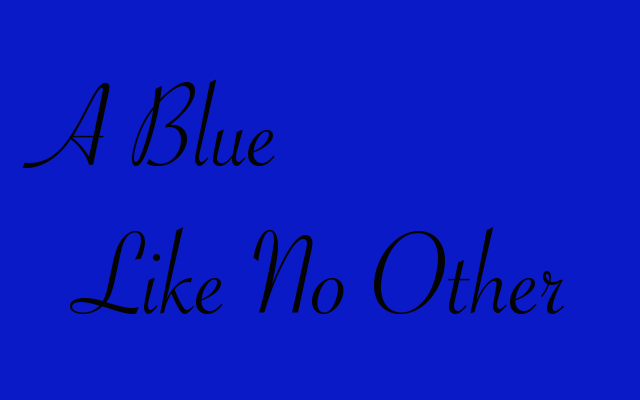 Cover art for A Blue Like No Other