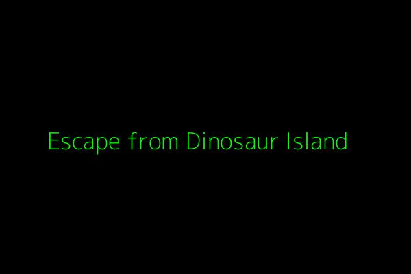 Cover art for Escape from Dinosaur Island